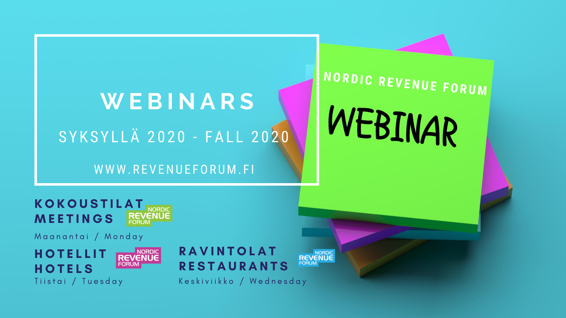 Rebuild 2021 Nordic Revenue Forum webinars for hotels, meetings and events and restaurants in the fall 2020